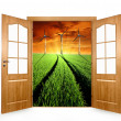 Stock Photo: Open door
