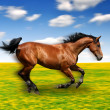 Stock Photo: Running horse