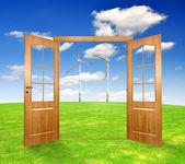 Kapıyı aç — Stok fotoğraf
