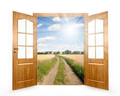 öppna dörren — Stockfoto