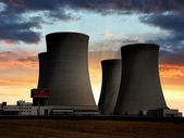 Nuclear power plant — Stock Photo