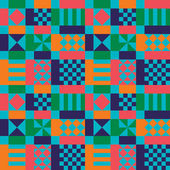 Retro Sixties Pattern — Vector de stock