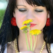 Girl with flower — Stock Photo #10751409