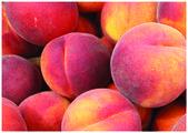 świeże słodkie brzoskwinie — Zdjęcie stockowe