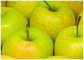 A maçã fresca amarelo fluorescente — Foto Stock