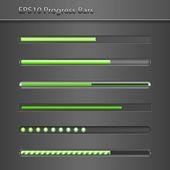 Progress Bars — Stock Vector