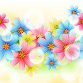 Красивый цветочный фон — Cтоковый вектор