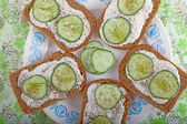 Sandwich with cucumber — Stock Photo