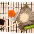 Ingredients of japanese food — Stock Photo