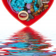 Heart shaped jewel box — Stock Photo