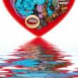 pudełku w kształcie serca — Zdjęcie stockowe