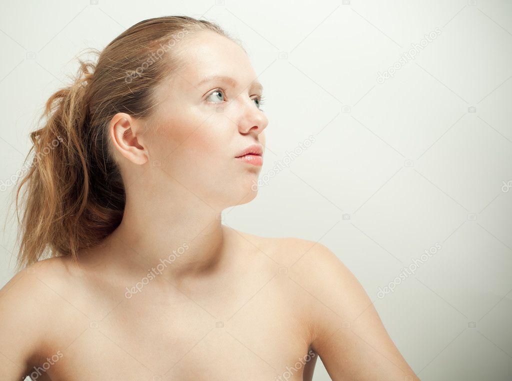 Beautiful Nude Woman Looking Up Ilya