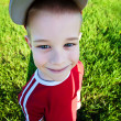 Funny boy wearing cap with visor — Stock Photo #10763909