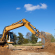Excavator working — Stockfoto