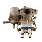 Motorcycle carburetor — Stock Photo