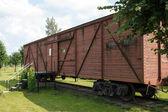 Muzeum wagonów w pobliżu stacji skrunda, łotwa — Zdjęcie stockowe