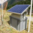 Solar panel in the Swiss Alps — Foto Stock
