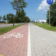Paved bike path — Stock Photo