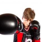 Young kickboxer — Stock Photo