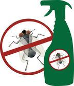 Aerosol insecticide — Stock Vector