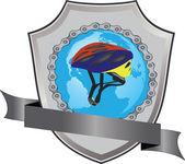 Cyclist logo — Stock Vector