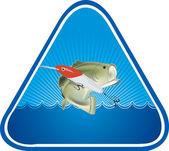 Logo połowów — Wektor stockowy