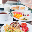 Delicious breakfast outdoors — Stock Photo #11047599