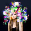 Social media and networking - Foto Stock