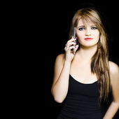 Attractive Young Business Woman Using Mobile Phone — Stock Photo