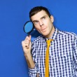 Business Man With Questions Searching For Answers — Stock Photo