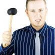 Man who needs anger management - Stock Photo