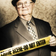 Astute fifties crime scene investigator - Stock Photo