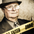 Vintage portrait of a crime detective — Stock Photo