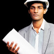 Proud young architectural student or engineer — Stock Photo