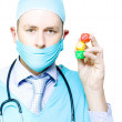 Surgery risk or dicing with death - Stock Photo