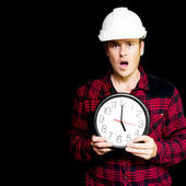 Construction project running over schedule — Stock Photo