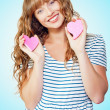 Stock Photo: Attractive young teenage girl in love