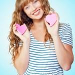 魅力的な若い 10 代の少女の愛 — ストック写真