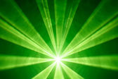Green laser light background — Stock Photo