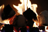 фон пламени из места пожара — Стоковое фото