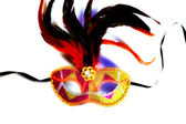 Colorful venetian mask on white background — Stock Photo