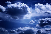 Background of a beautiful blue sky with white clouds — Stock Photo
