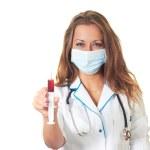 Doctor with syringe — Stock Photo