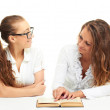 Two girls reading a book — Stock Photo #11410602