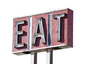 Eat Sign Decay Isolated — Stock Photo