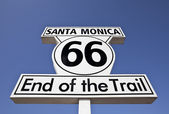 Route 66 End of the Trail in Santa Monica Sign — Stock Photo