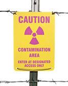 Caution Radioactive Contamination Area Sign Isolated — Stock Photo