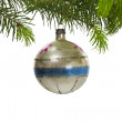 Royalty-Free Stock Photo: Retro Hanging Christmas Tree Ornament