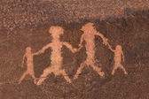 Petroglyph Rock Art Family — Stock Photo