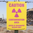 Caution Radioactive Contamination Area Sign — Stock Photo